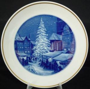 1956年 クリスマス市場 イヤープレート
