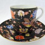 色絵牡丹鳥文コーヒー碗皿