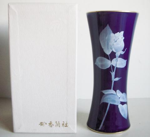 ルリローズガーデン花瓶