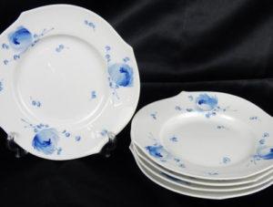 青い花 プレート5枚セット