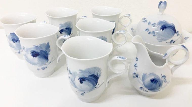 マイセン青い花