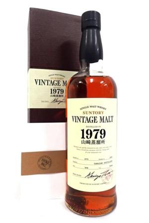 山崎蒸留所サントリーヴィンテージモルトウイスキーの価値と買取価格